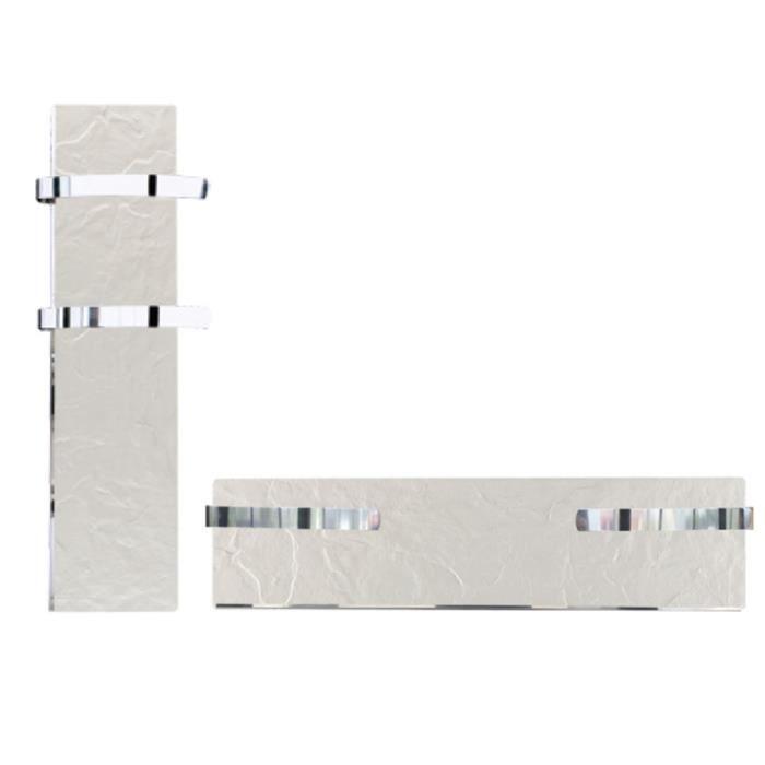 SÈCHE-SERVIETTE ÉLECT Sèche-serviette rayonnant SLIM ardoise blanche 500