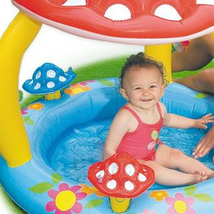 Pataugeoire achat vente pas cher cdiscount page 2 for Piscine bebe champignon