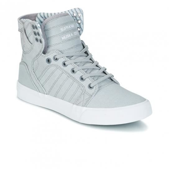 Chaussures Skytop Light Grey/White - Supra uXvHd