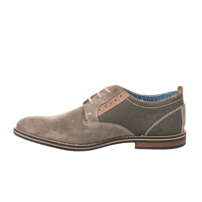 Chaussures à lacet homme - FIRST COLLECTIVE - Beige - MS-022H38STAFF - Millim