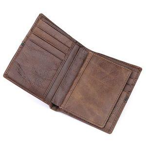 Marron fonc/é Taipinglang Portefeuille Homme Cuir veritable RFID Portefeuille pour Homme en Cuir Porte /à Monnaie Carte de Cr/édit pour la Saint Valentin f/ête des p/ère