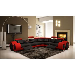 Canape d angle chesterfield achat vente canape d angle chesterfield pas c - Canape rouge et noir ...