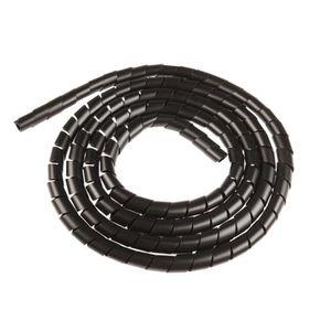 CÂBLE - FIL - GAINE Gaine spirale diamètre 12mm noir
