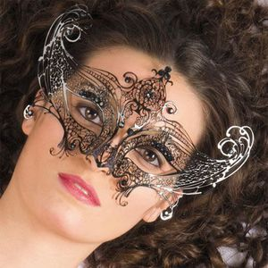 Diamonte Design Métal Ruban Attache Halloween Femmes Adulte Masque de Mascarade