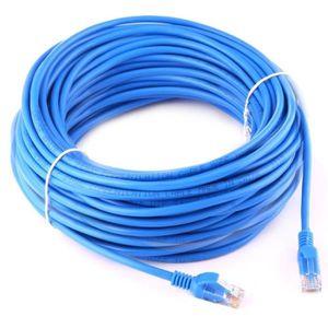 CÂBLE RÉSEAU  Câble 30 mètres - Cat5e - Réseau LAN Ethernet