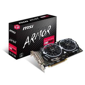 CARTE GRAPHIQUE INTERNE MSI AMD RX 580Armour 8g OC 8Go de mémoire 256B