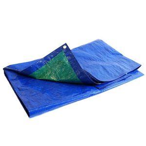 B/âche plastique 8x12 m bleue 80g//m/² b/âche de protection poly/éthyl/ène