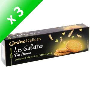 BISCUITS SABLÉS [LOT DE 3] CASINO DELICES Galettes au Citron vert