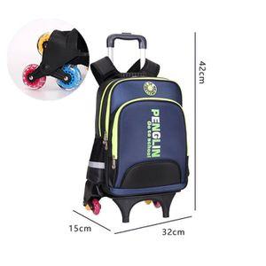 CARTABLE Cartable à Roulettes Six roues Trolley Bag Sac à D
