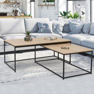 TABLE BASSE Lot de 2 tables basses gigognes DETROIT 100/113 de