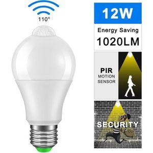 AMPOULE - LED E27 12W Ampoule LED Capteur Capteur PIR Lampe à éc