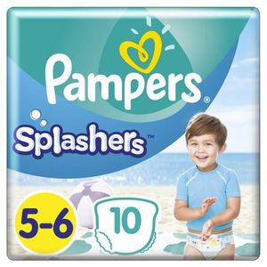 COUCHE Pampers Splashers Taille 5-6, 14+ kg, 10 Couches-C