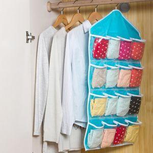 ARMOIRE DE CHAMBRE Sac de rangement Dressing 16poches Chaussettes, S