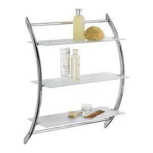 etagere murale chrome achat vente etagere murale chrome pas cher cdiscount. Black Bedroom Furniture Sets. Home Design Ideas