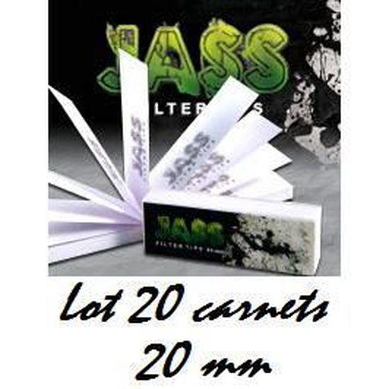 Pack de 25 Carnet de 50 filtres Feuilles Slim en carton Toncar Jass 20mm