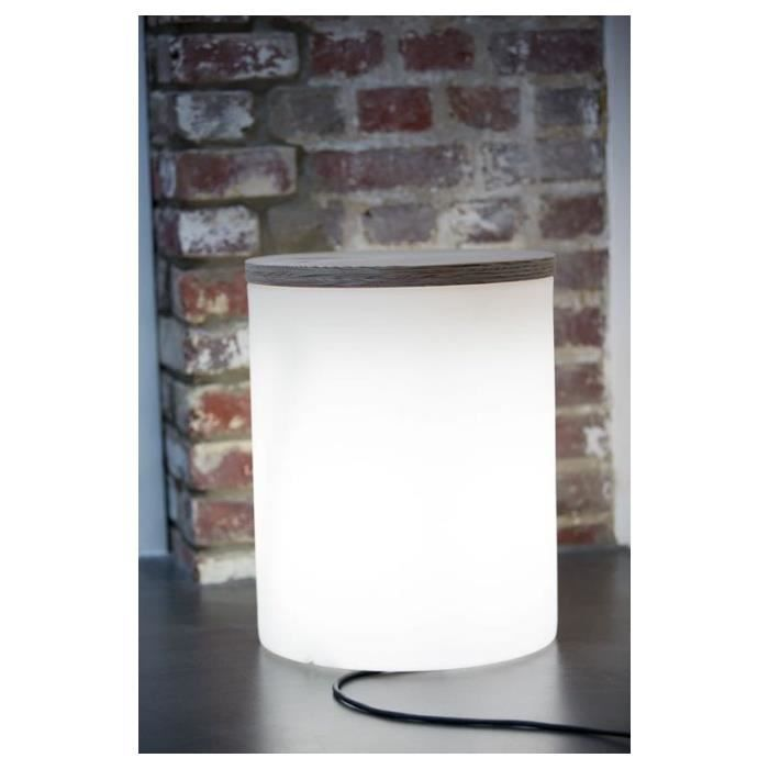 Table basse lumineuse cylindrique eva int rieur ext rieur for Table exterieur occasion