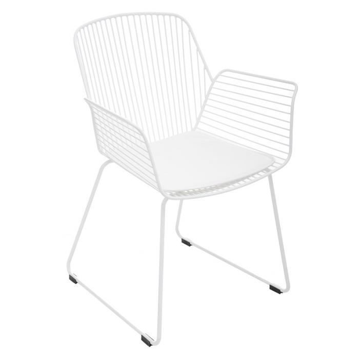 Fauteuil Alby blanc Atmosphera