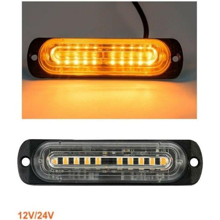 1x Feu De Gabarit Flash Clignotant Lent Orange 12-24V 10 LED Camion Caravane Van