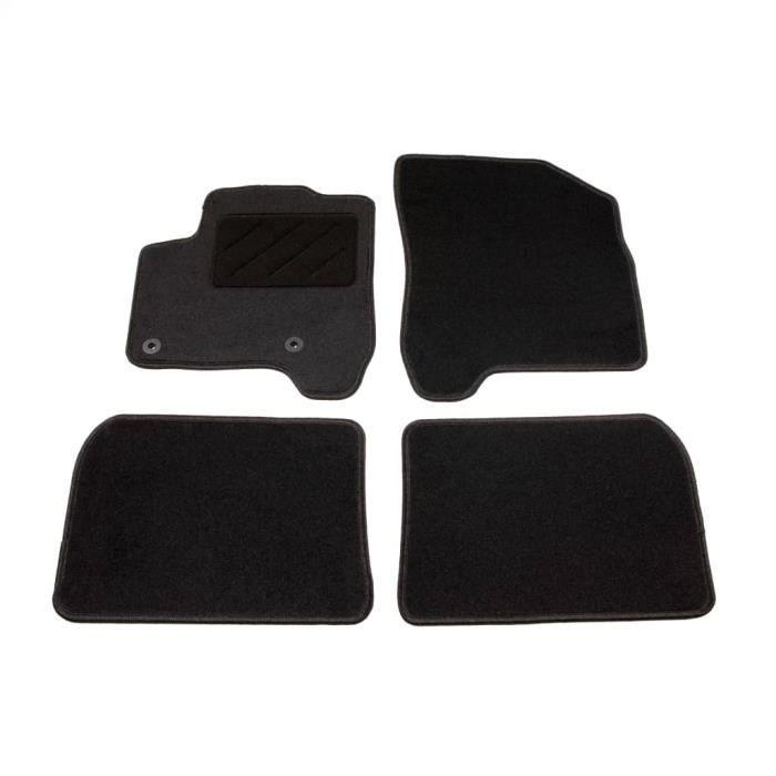 Ensemble de tapis de voiture 4 pcs pour Citroen C3 Picasso -JID
