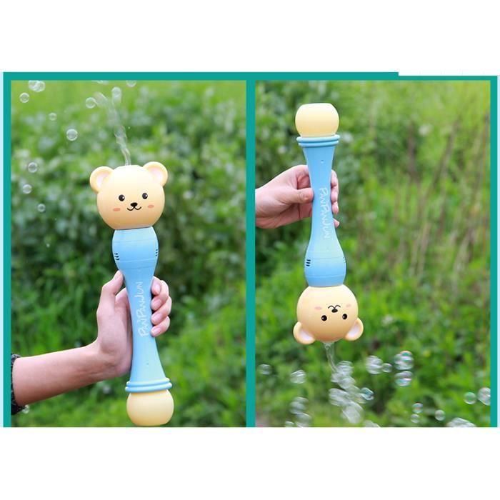 Machine à Bulles de Ourson en peluche pour enfants Automatique Durable Souffleur bulles essayé,Livré avec musique son et lumière