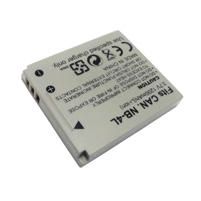 Batterie pour Appareil photo Canon Digital ixus wireless type nb-4l - 3.7v 760mah