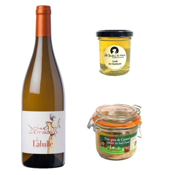 Foie gras de canard, confit de Chartreuse et vin blanc