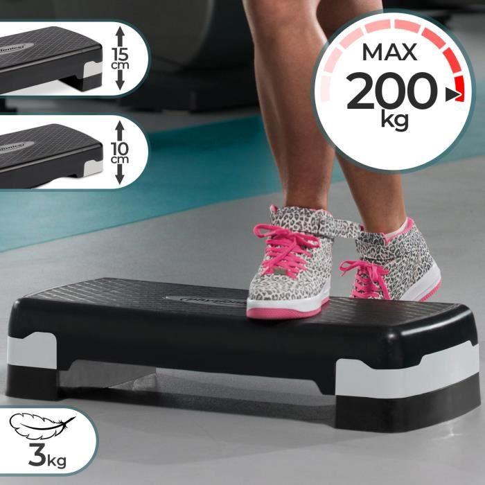 Step Aérobic Fitness Stepper Planche Hauteur Réglable en 2 Niveaux 68x28cm Antidérapant Stepper Plateforme Fitness Gym Yoga Sport