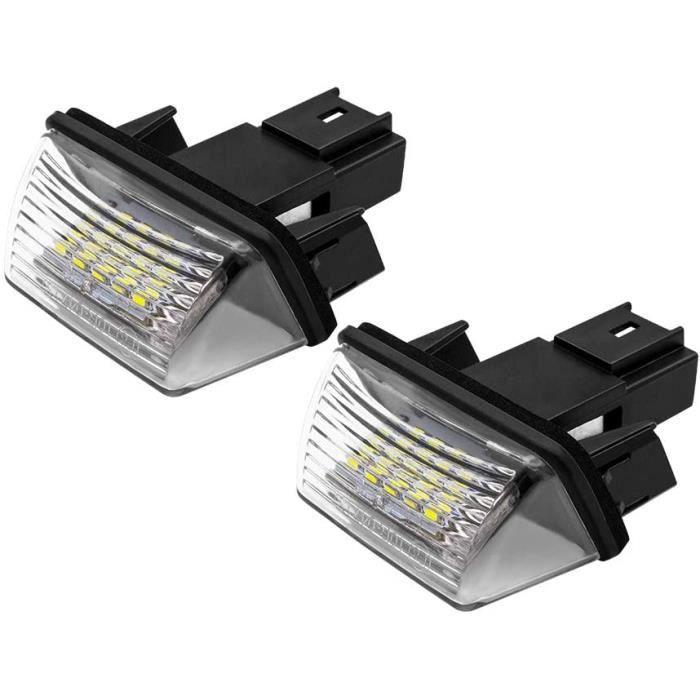Safego LED Éclairage de plaque d'immatriculation Auto Ampoules Super Brillant 6000K Xénon Blanc 18 SMD Feux arrière pour 206-20 A611