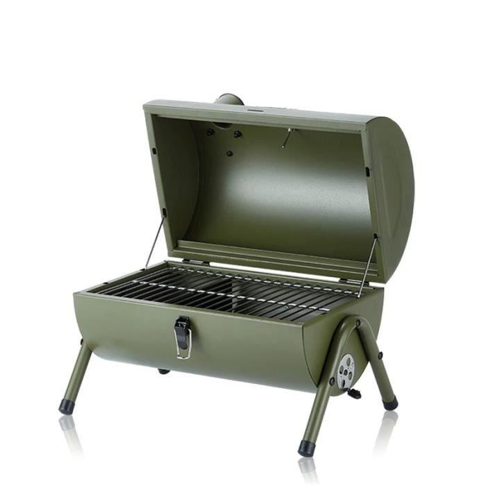 Barbecue portable extérieur, terrasse, pique-nique de camping, barbecue pour 3 à 5 personnes