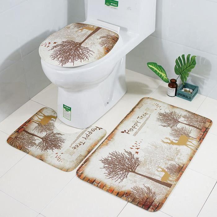 Abattant Wc,Housse De siège De Toilette, housse De siège De Toilette, accessoire De Toilette en tapis inodore - Type bath mat 11