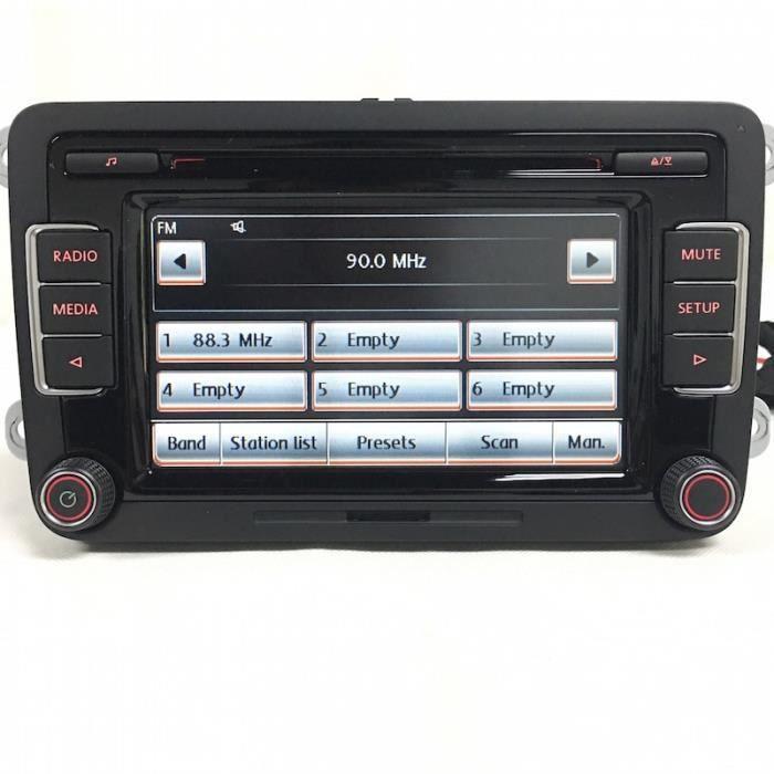 autoradio stéréo RCD510, lecteur CD, USB, AUX SD, avec Code, pour VW Tiguan Golf 5-6, Jetta MK5-MK6, Passat,