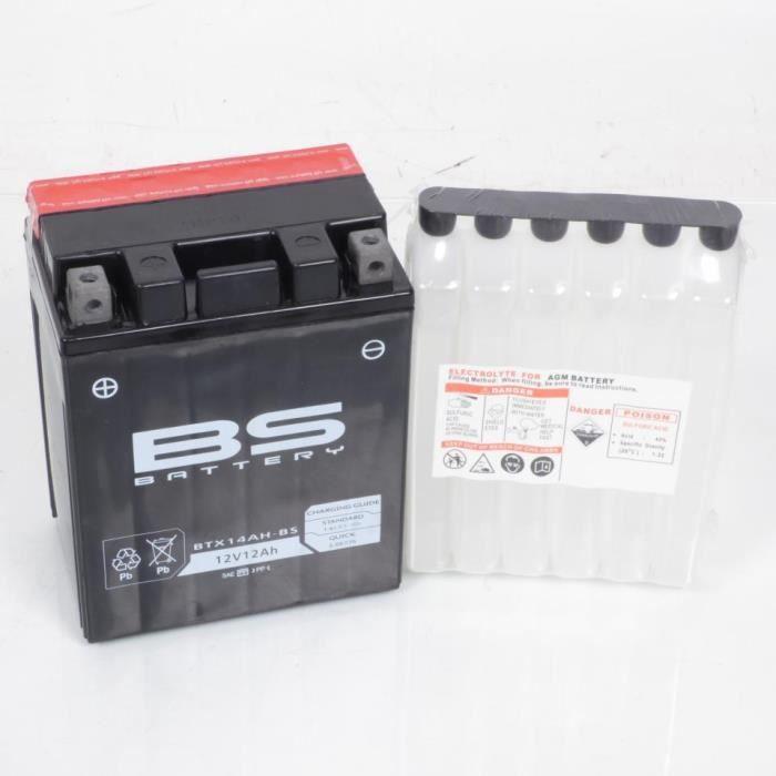 Batterie Polaris Trail boss pour 330 cc de 2003 a 2013 YTX14AH-BS etat Batterie BS BATTERY livrée avec acide 12V 12Ah