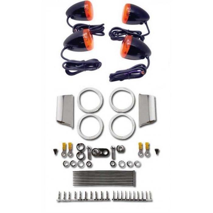 Kit clignotant Bullet Style noir Softail de 88-99