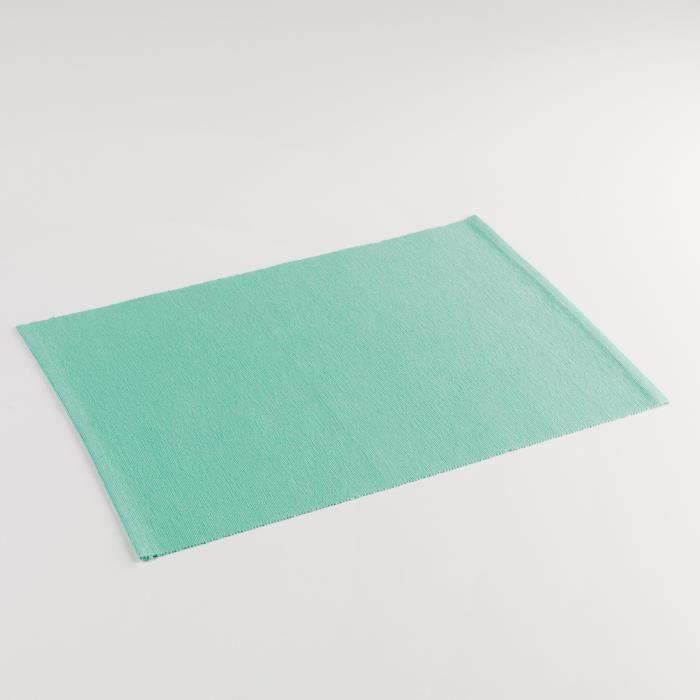 CDaffaires Set de table 33 x 45 cm coton uni miami Menthe
