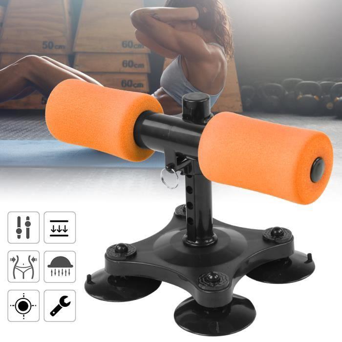 Barre d'Exercice de Redressement Assis Machine Abdominale de Fitness Assistant Équipement(Orange )-HEN