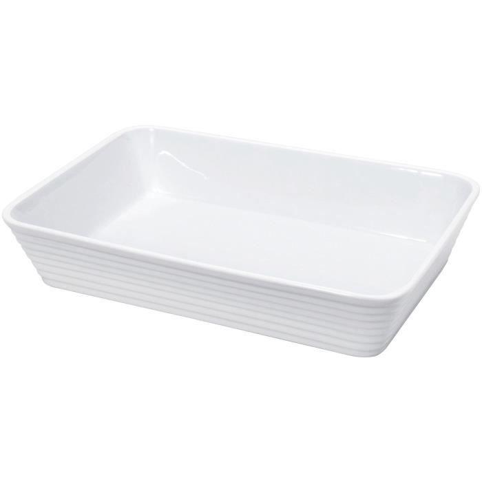 KUCHENPROFI Plat rectangulaire en porcelaine - 20x12x6 cm - Blanc