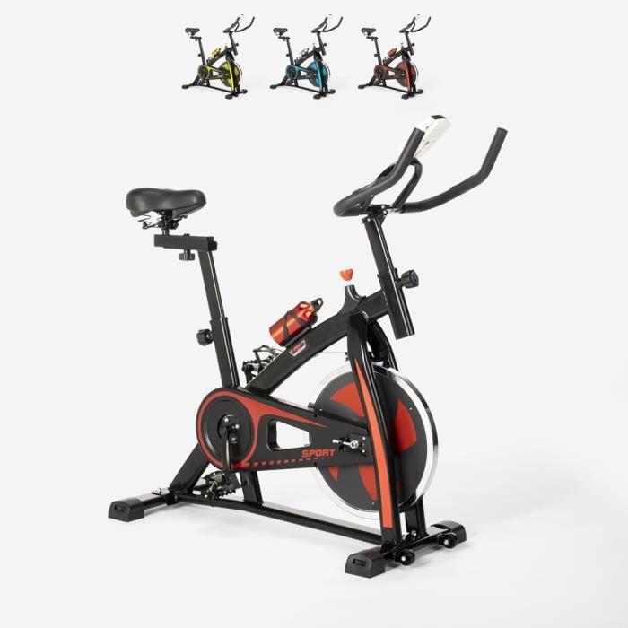 Spin Bike Spinning vélo de forme professionnelle avec volant d'inertie Athletica - couleur:Rouge