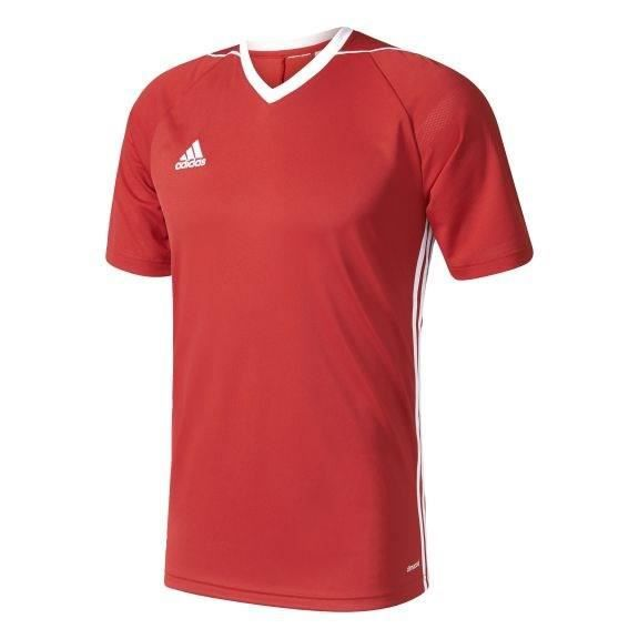 ADIDAS Maillot de Football Tiro 17 Rouge / Blanc