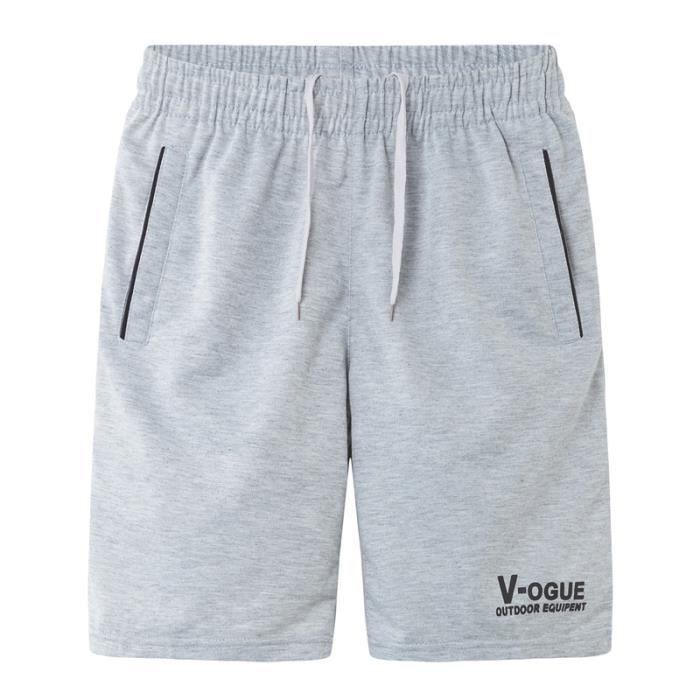 Homme Shorts Sports Outdoor Casual Cool Lettre Impression Eté Slim Fit Couleur Pure Large Plage Comfortably Jogging