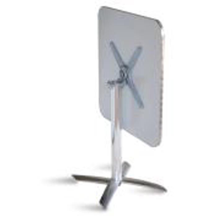 Table pliante de jardin en aluminium et plateau en acier - Dim : H 70 x L 70 x P 70 cm