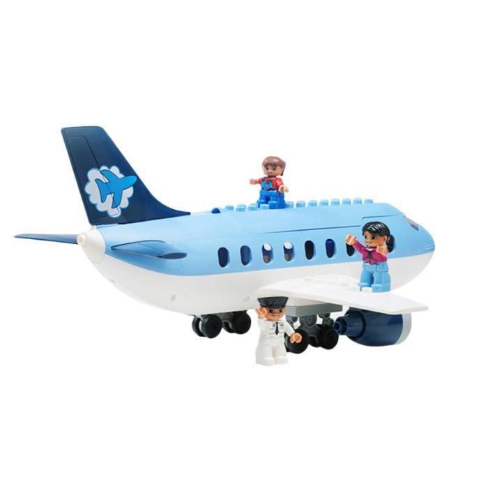 1 pièces avion blocs de construction assemblage éducatif bricolage modèle jouet Puzzle Kit pour enfants en bas JOUET A BASCULE