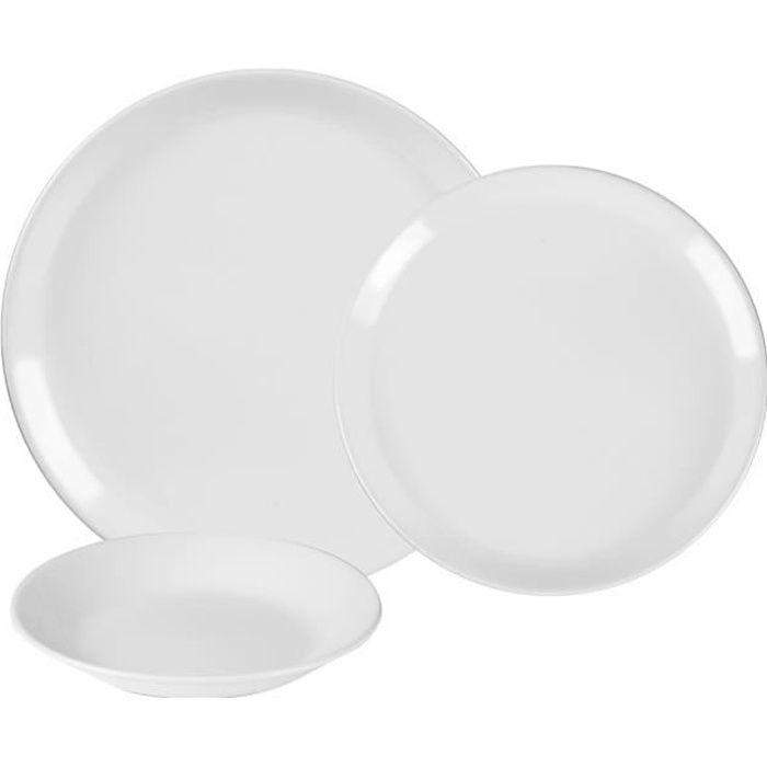 Service d'assiettes itit blanc 18 pièces - Table Passion Multicolore