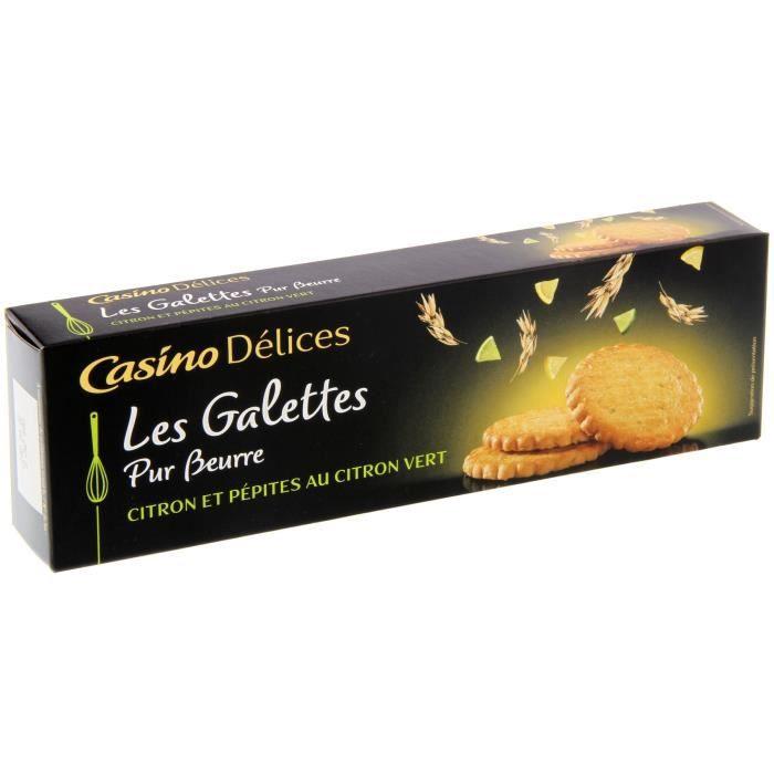 CASINO DELICES Galettes au Citron vert - 100g