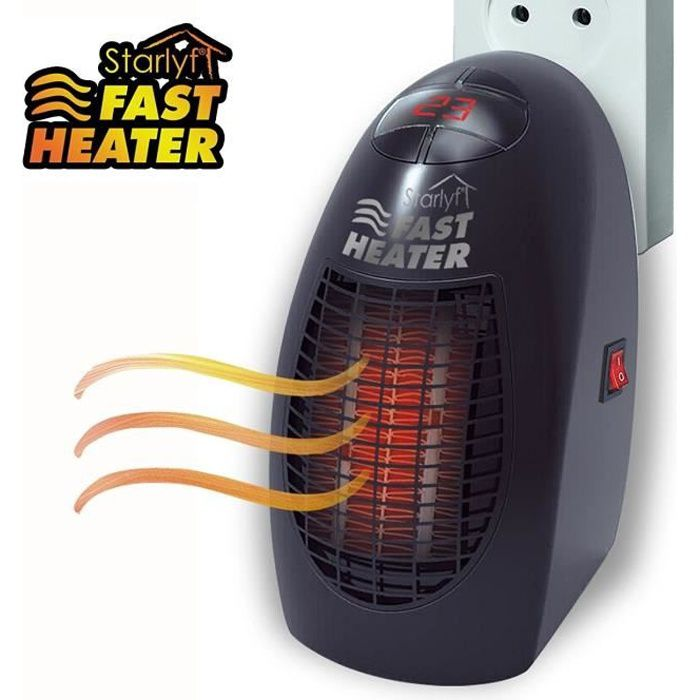RADIATEUR D'APPOINT Starlyf Fast Heater – mini chauffage portable et p