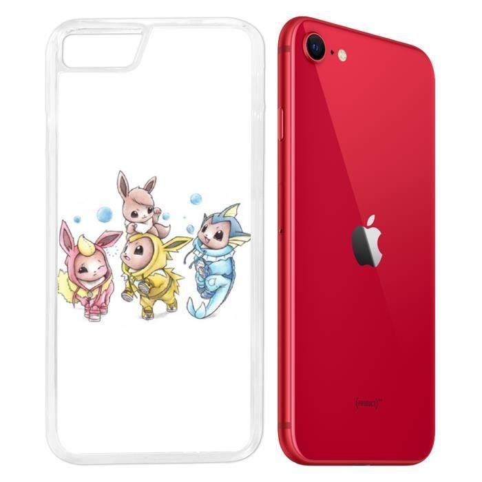 Coque iPhone SE 2020 - Pokemon Bebe Evoli Evolutio