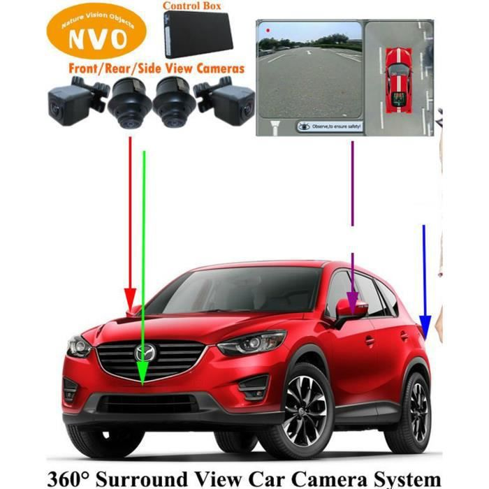 cam ra de recul vue a rienne 360 camion camping car voiture camera car 360 panoramic bird view. Black Bedroom Furniture Sets. Home Design Ideas