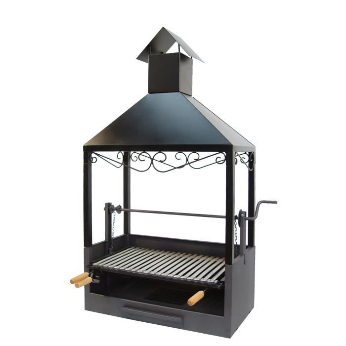 Ez71507 barbecue a poser avec cheminee achat vente for Cheminee exterieur weber