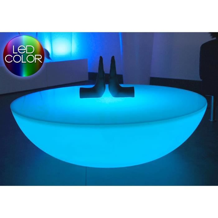 table lumineuse multicolores led moon achat vente. Black Bedroom Furniture Sets. Home Design Ideas