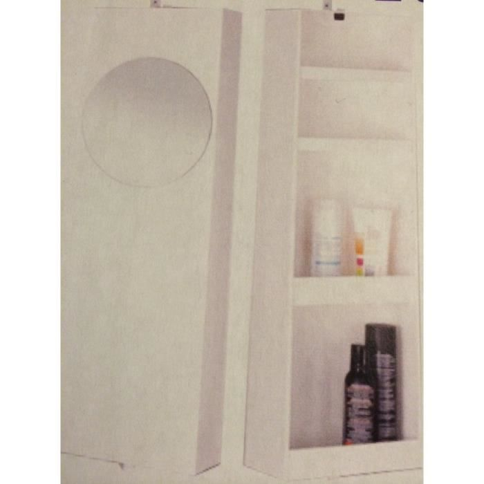 armoire de salle de bain pivotante en aluminium blanc avec. Black Bedroom Furniture Sets. Home Design Ideas