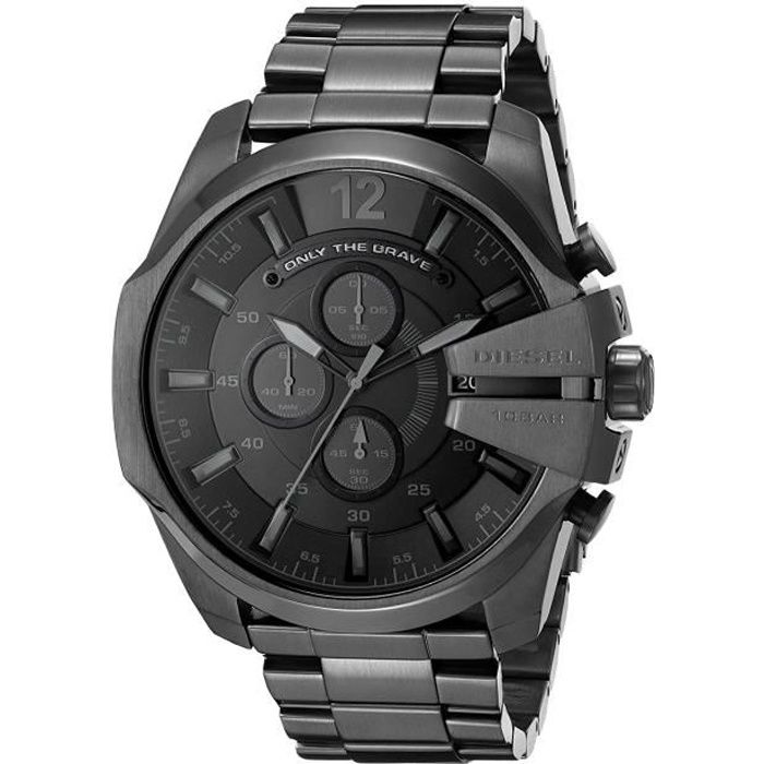 diesel homme montre dz4355 bracelet en acier inoxydable noir achat vente montre diesel. Black Bedroom Furniture Sets. Home Design Ideas